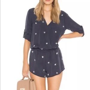 Anthro Cloth & Stone Star Print Romper - Large